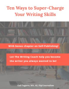 the editor becomes a published author. cover of ten ways to supercharge your writing skills
