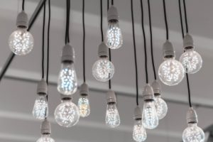 light bulbs hanging from ceiling for post creative writing ideas for children and teenagers