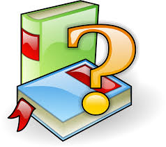 photo of two books with large question mark