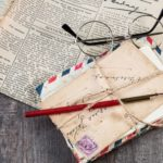 newspaper, letters, pen for post the power of words