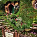 front entrance of bilbo baggins house and garden for post writing a fictional town